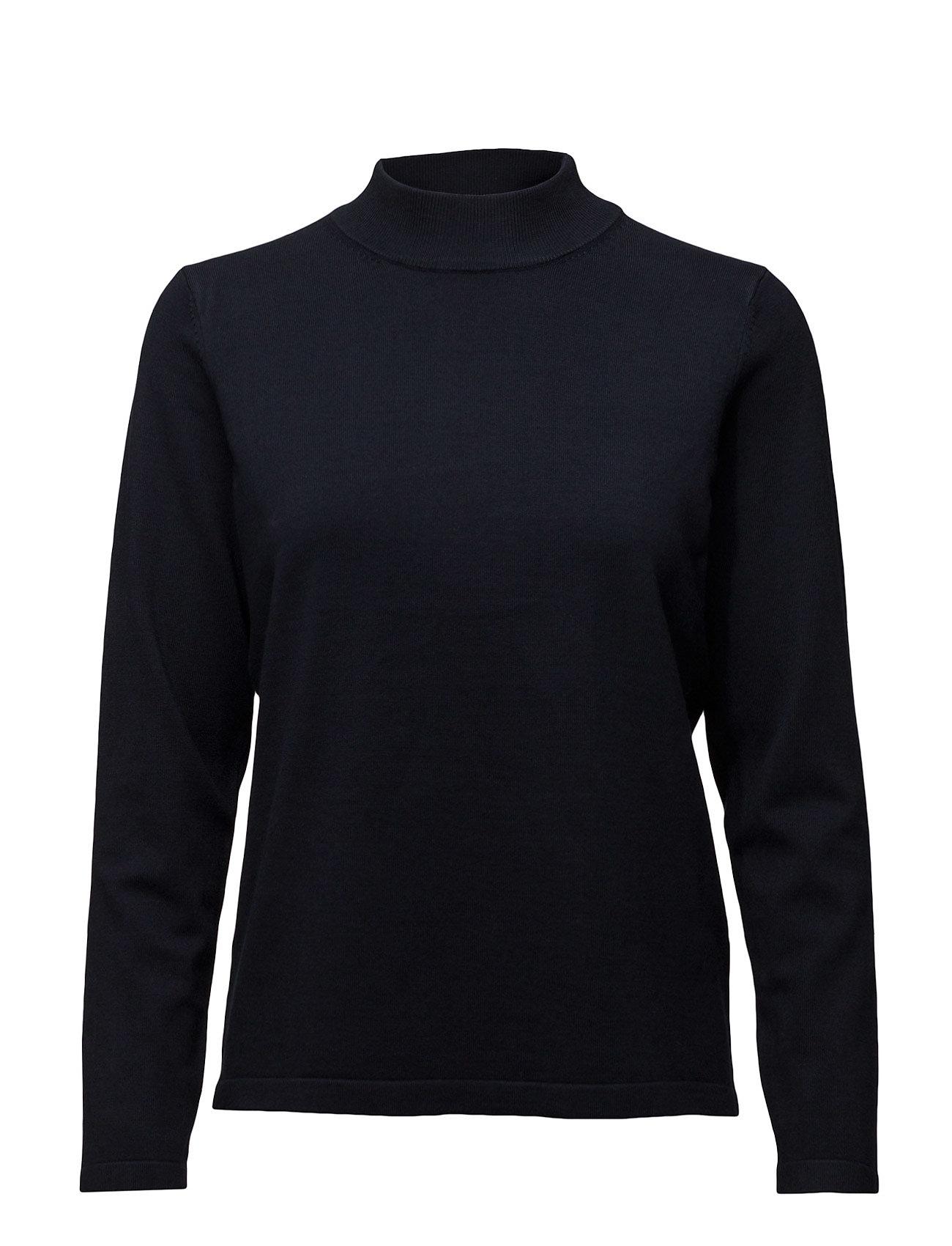 Pullover-Knit Heavy Signature Højhalsede til Damer i Marine blå