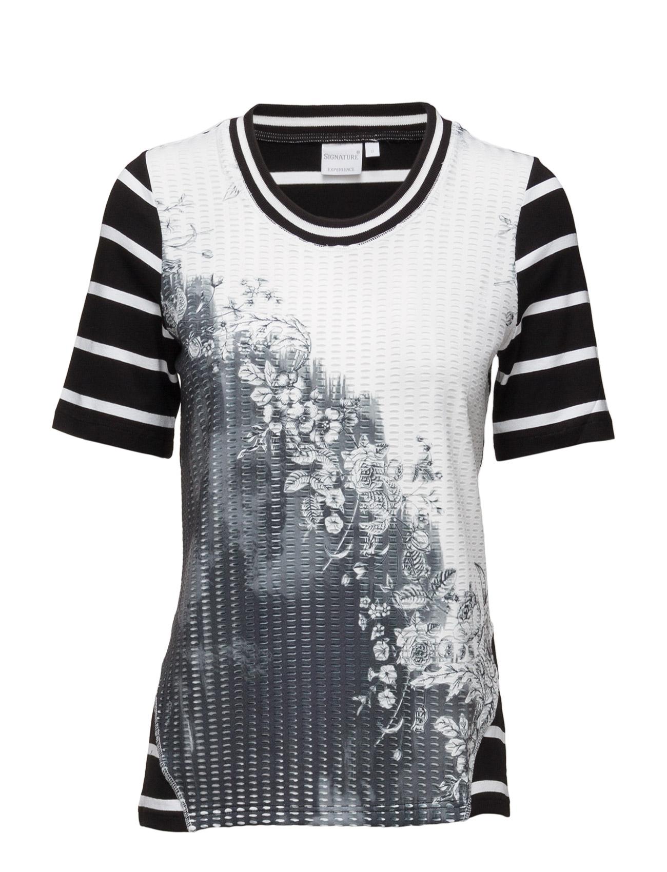 T-Shirt Signature Kortærmede til Kvinder i Sort
