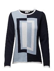 Pullover-knit Summer - NAVY