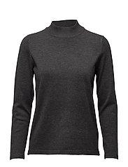 Pullover-knit Heavy - DK. GREY MELANGE