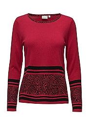 Pullover-knit Heavy - SCARLET