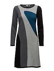 Dress-knitted - DARK PETROL