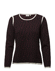 Pullover-knit Heavy - BORDEAUX