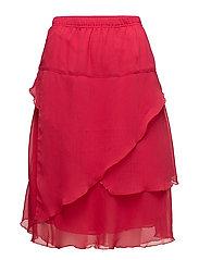 Skirt-light woven - SCARLET