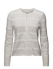 Cardigan-knit Light - WHITE
