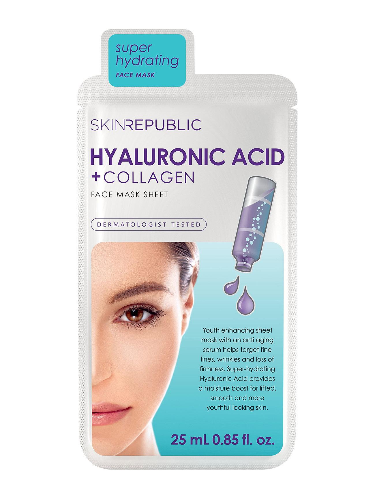 Hyaluronic Acid + Collagen Face Mask Skin Republic  til Damer i Klar