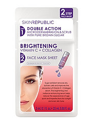 2 Step Brightening Vtiamin C + Collagen Face Mask - CLEAR