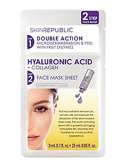 2 Step Hyaluronic Acid + Collagen Face Mask - CLEAR