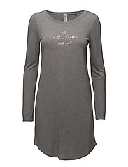 L. sleepshirt l/slv - STONE GREY MELANGE