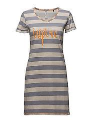 L. sleepshirt s/slv - LIGHT STRIPE