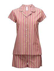 L. pyjama short - BIG CURRY STRIPE