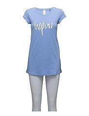 L. pyjama 3/4 - CERAMIC BLUE