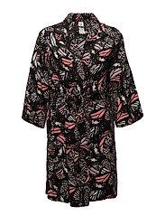 L. kimono - BLACK NEON BUTTERFLY