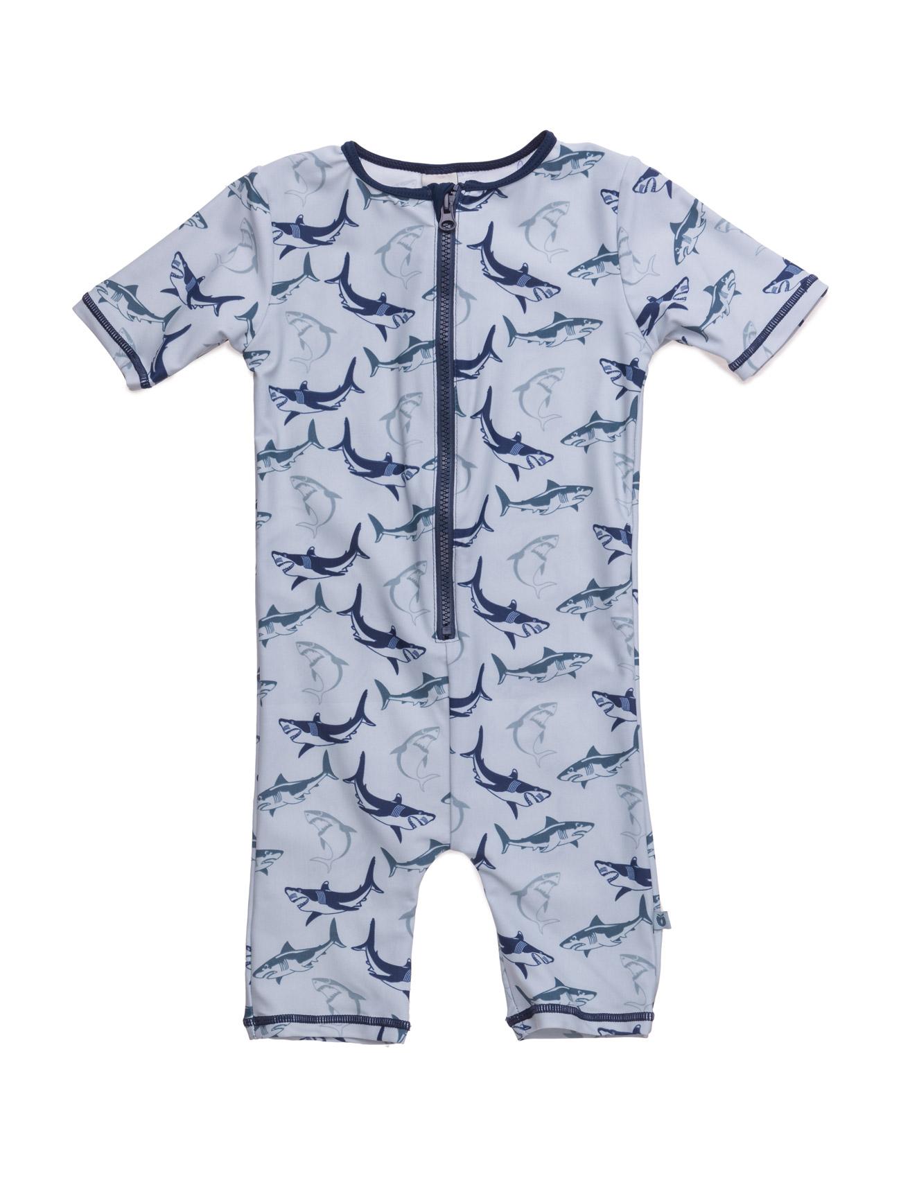 Swimsuit. Sharks. Short Legs/Sl Småfolk Badetøj til Børn i