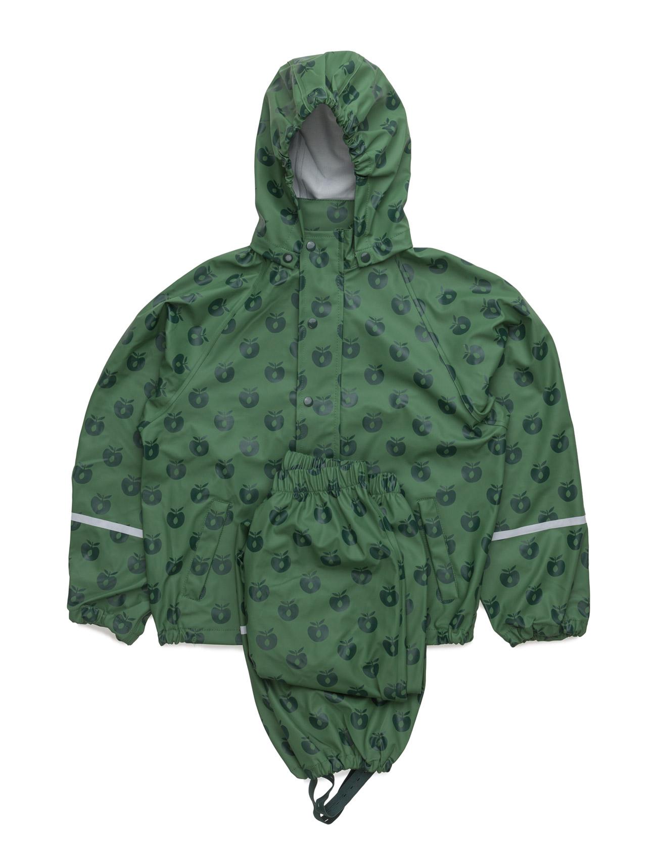 Rainwear Set. Apples Småfolk Regntøj til Børn i Elm Green