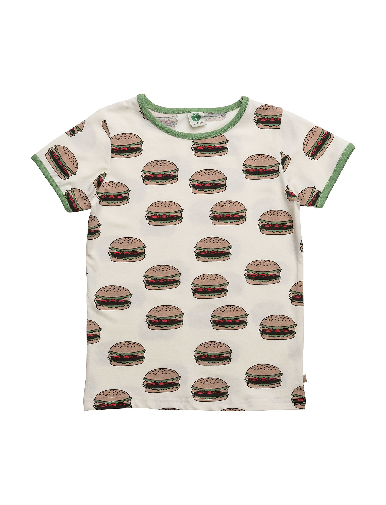 T-Shirt With Burger Småfolk Kortärmad T-Shirts