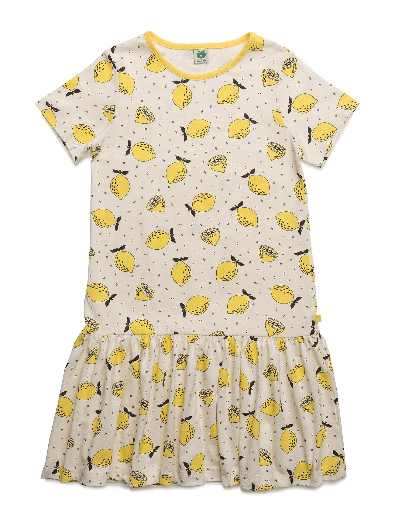 Dress With Lemon Print SmÂfolk Kjoler til Børn i Fløde