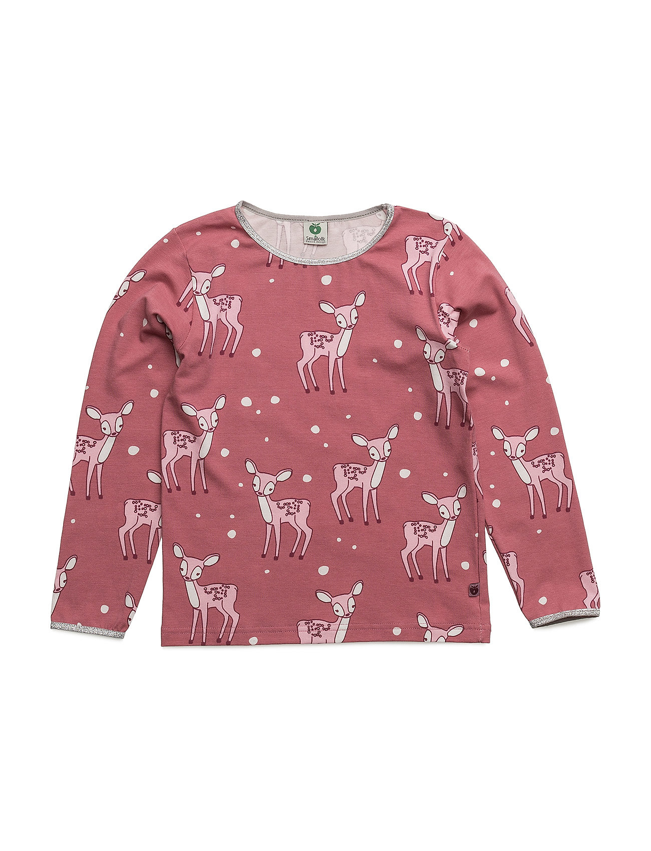 T-Shirt With Baby Deer. SmÂfolk Langærmede t-shirts til Børn i Mesa Rose