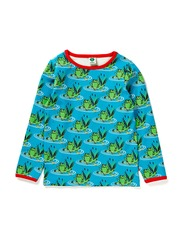 T-shirt LS. Frogs - Turquise
