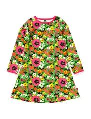 Dress. LS. Flowers - Apple Green