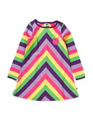 Dress. LS. Multistripes - Purple