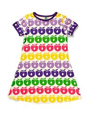 Dress with apples - Purple