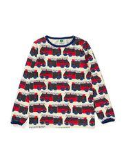 T-Shirt LS. Fire truck - Cream