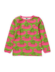 T-Shirt LS. Frogs - Pink