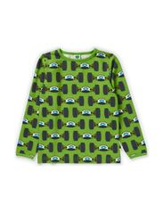 T-Shirt LS. Racing cars - Apple Green