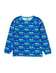 T-Shirt LS. Cars - Blue