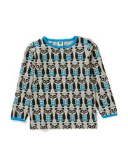 T-Shirt LS. Panda - Turquise