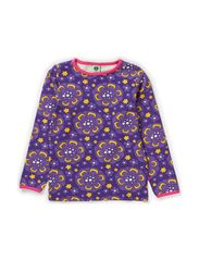 T-Shirt LS. Flowers - Purple