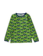 T-Shirt LS. Motor bike - Apple Green