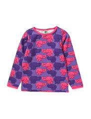 T-Shirt LS. Elephants - M. Purple
