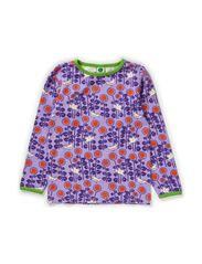 T-Shirt LS. Sunflowers - Lt. Purple