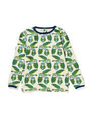 T-Shirt LS. Owls - Turquise