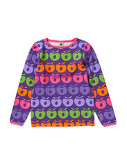 T-Shirt LS. Multi apples - Purple