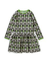 Dress LS. Panda - Apple Green
