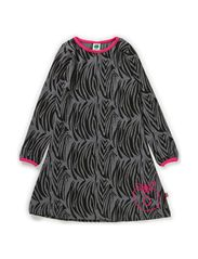 Dress LS. Zebra stripes - M. Grey Mix