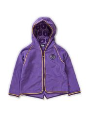 Fleece with hood and zipper - M. Purple