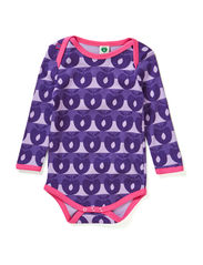 Body LS. Apples-Stripes - Lt. Purple
