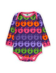 Body LS. Multi apples - Purple