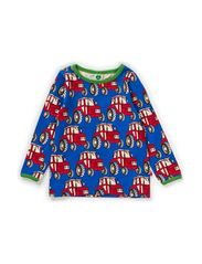 Baby T-shirt LS. Tractor - Blue