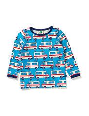Baby T-shirt LS. Ambulance - Turquise