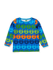 Baby T-shirt LS. Multi apples - Blue