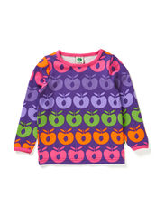Baby T-shirt LS. Multi apples - Purple