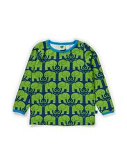Baby T-shirt LS. Elephants - Navy
