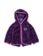 Baby Fleece w. hood and zipper - M. Purple