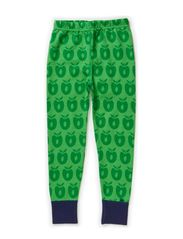 Leggings Wool Apples - Apple Green