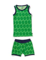 Boys Underwear Wool Apples - Apple Green